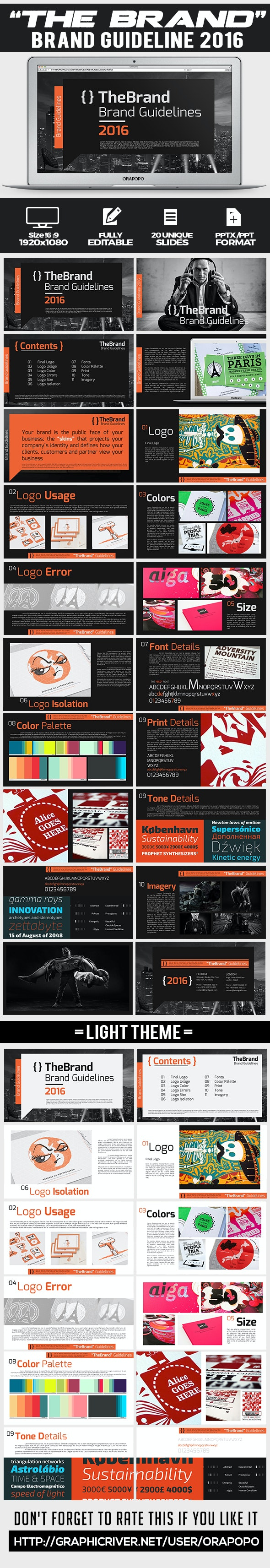 The Brand ~ Brand Guideline 2016 - Creative PowerPoint Templates