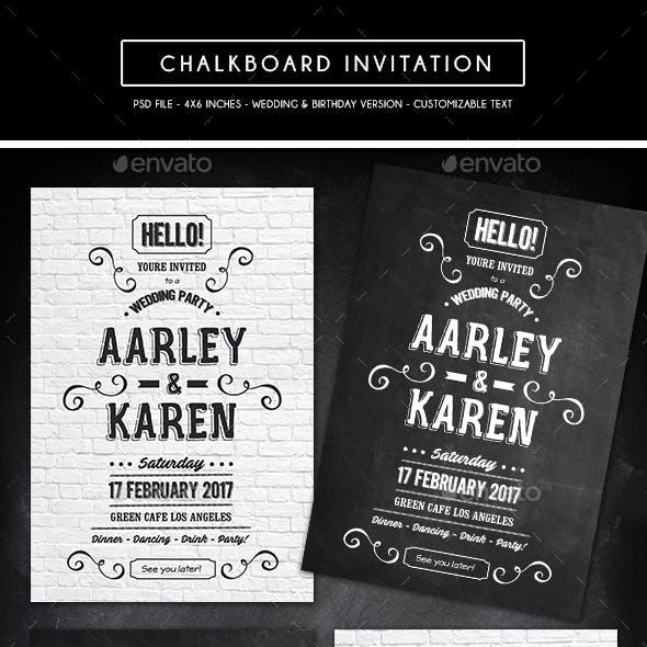 Chalkboard Invitation