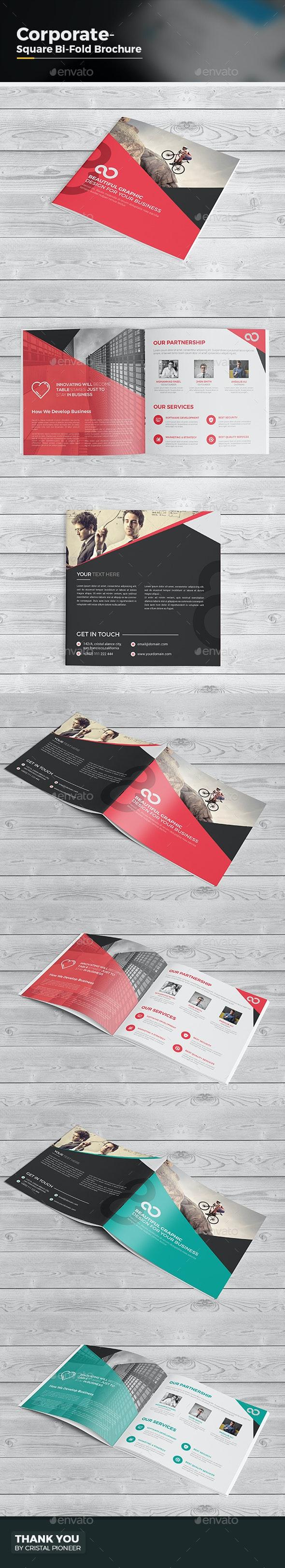 Bi Fold Brochure-Square - Corporate Brochures