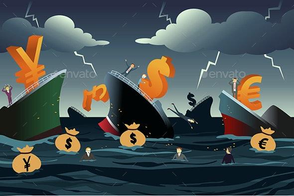 Economic Crisis Concept - Concepts Business