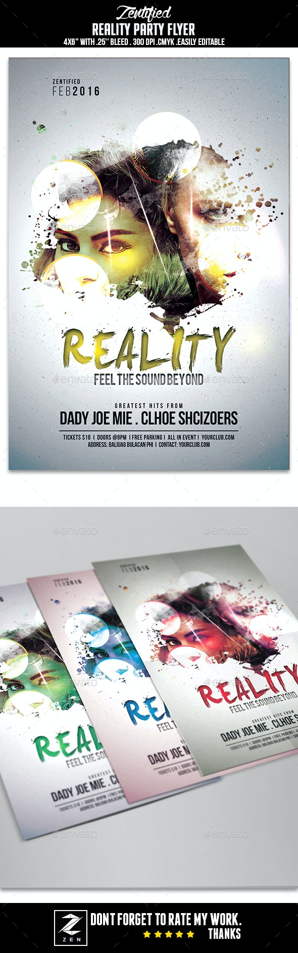 Reality Party Flyer - Clubs & Parties Events