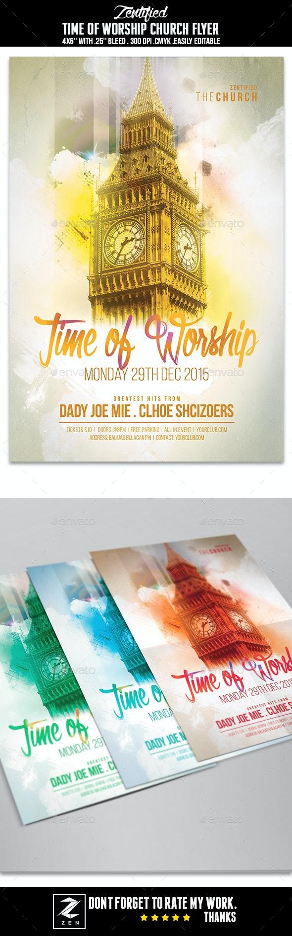 Time Of Worship Church Flyer - Church Flyers
