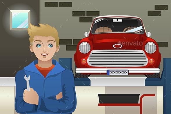 Car Mechanic - People Characters