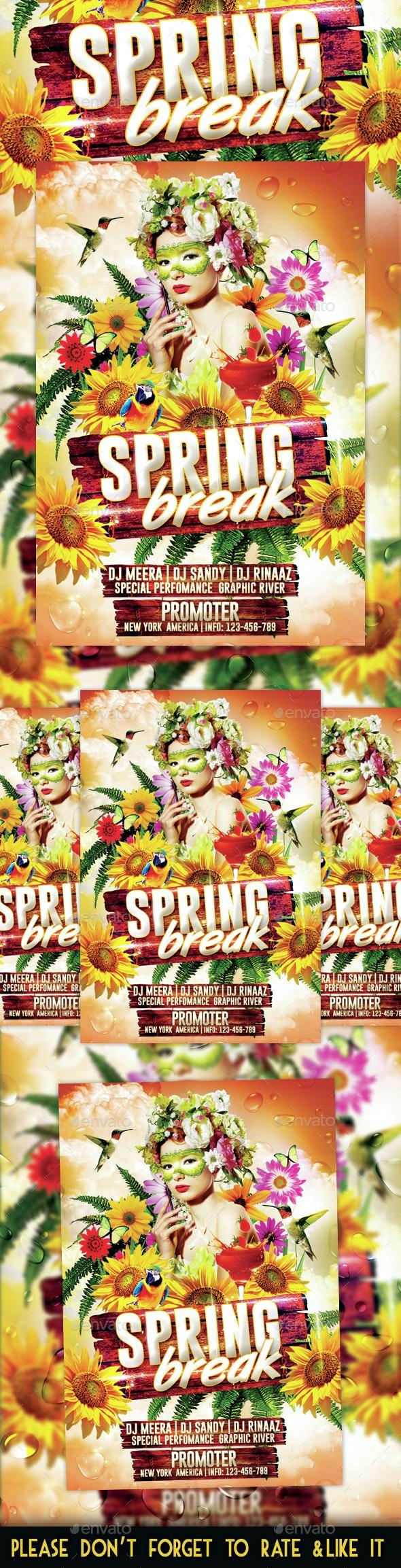 Spring Break Party Flyer - Flyers Print Templates