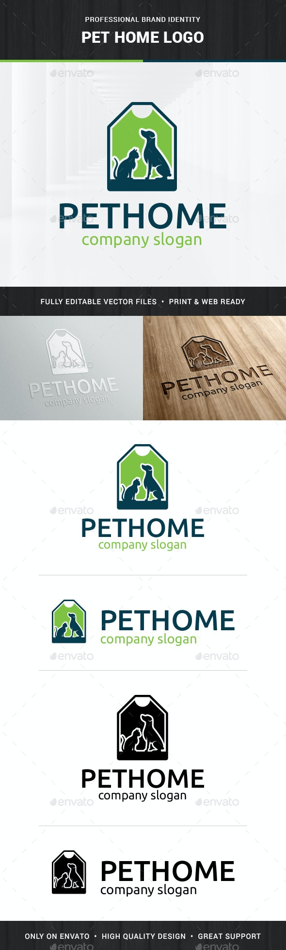 Pet Home Logo Template - Animals Logo Templates