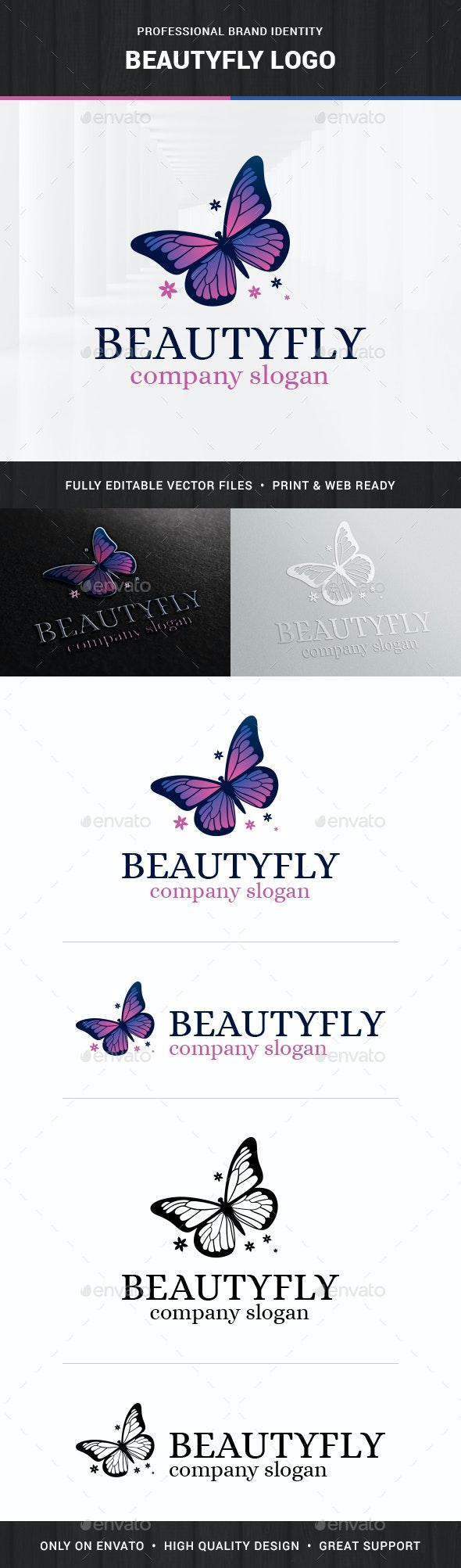 Beautyfly - Butterfly Logo Template - Animals Logo Templates