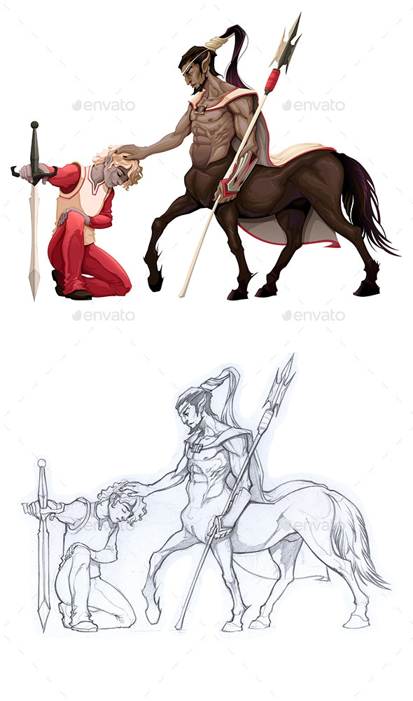 Humility. The Prince with the Centaur - Monsters Characters