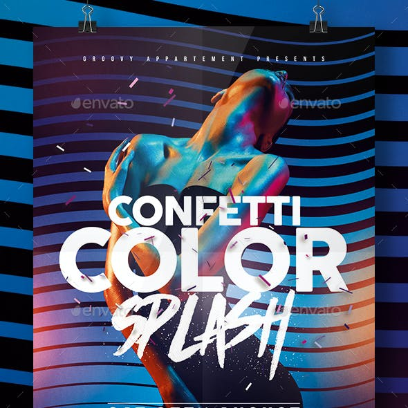 Confetti Color Splash Flyer