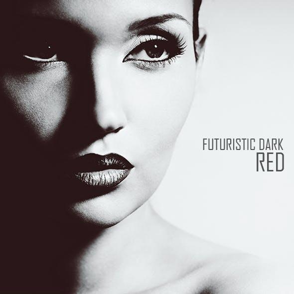 Futuristic Dark Red Color Movie Effect