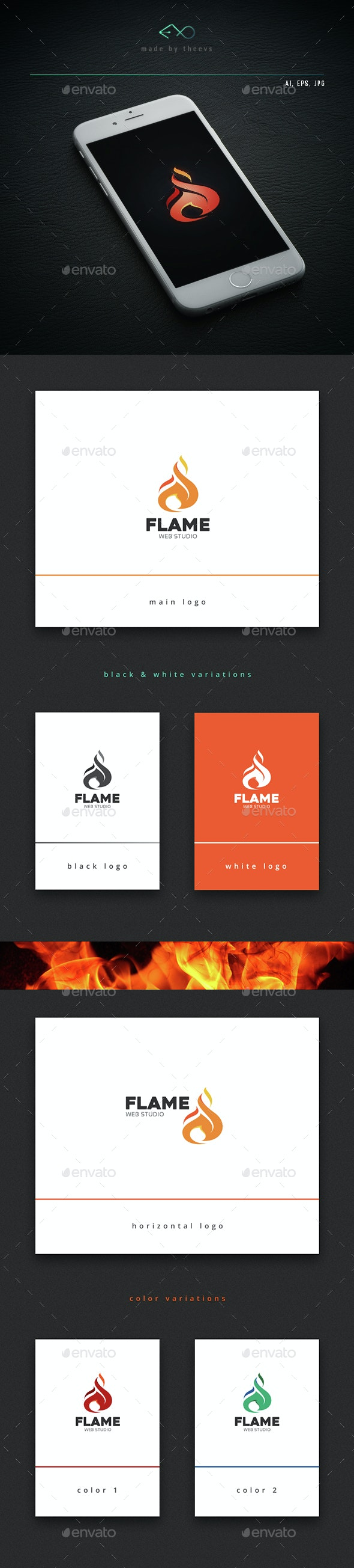 Flame - Vector Abstract