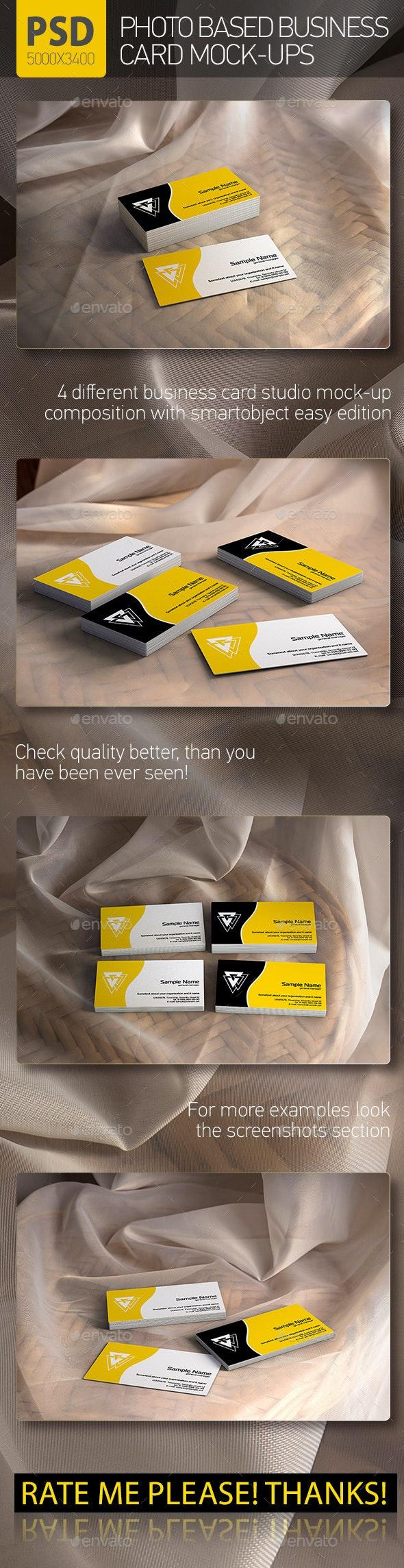 Business Card vCard Mock-up - Business Cards Print
