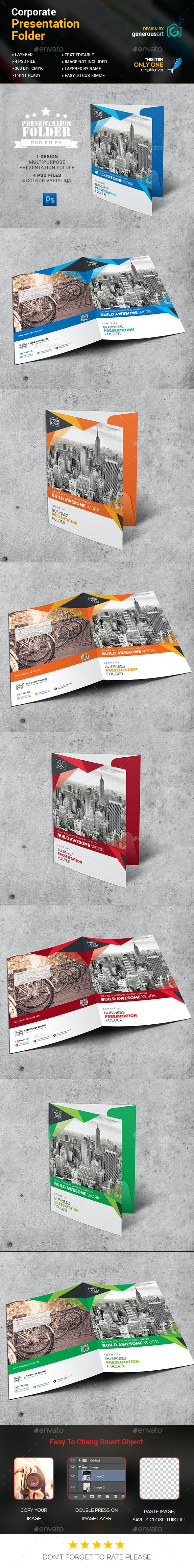 Pro Presentation Folder - Stationery Print Templates