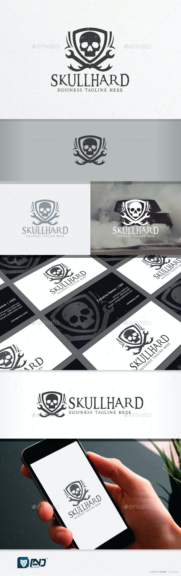 Skull Hard - Racing Team - Symbols Logo Templates