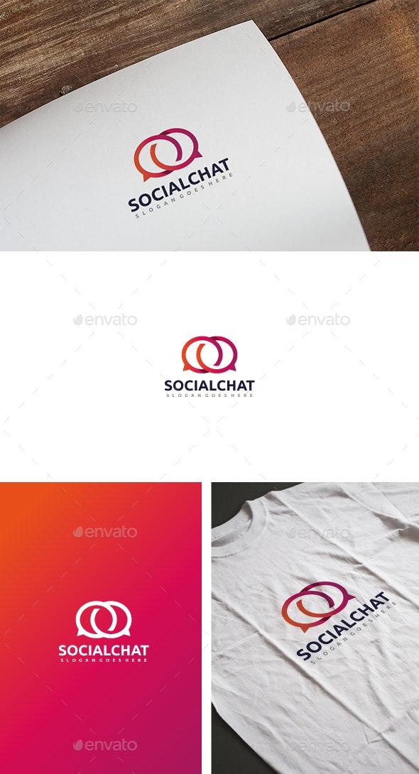 Social Chat Logo - Abstract Logo Templates