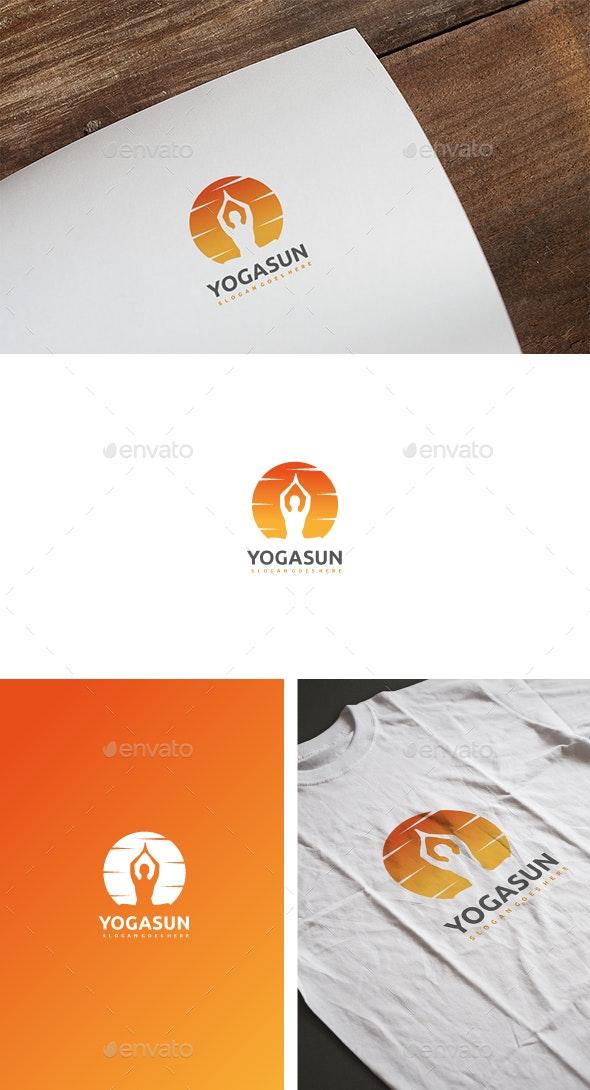 Yoga Sun Logo - Humans Logo Templates