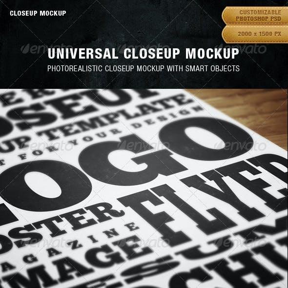 Universal Closeup Mockup