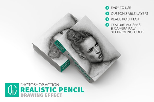 Realistic Digital Pencil Drawing - Hand Drawn Photoshop Effect Action - Actions Photoshop
