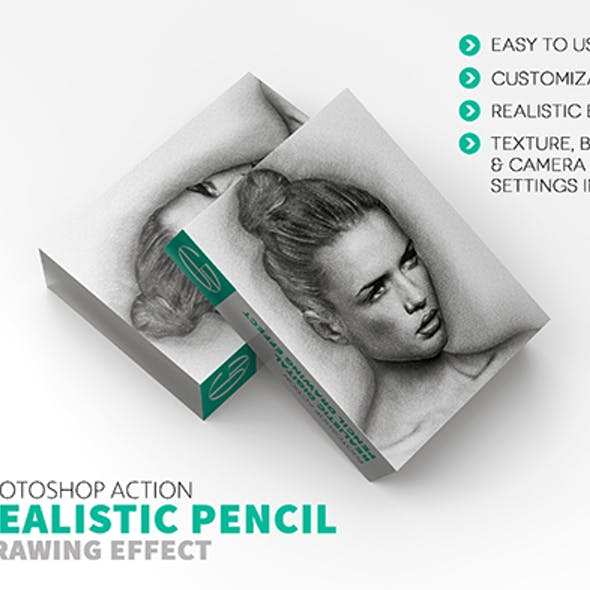 Drawing Photoshop Actions and Pencil Brush Graphics, Designs & Template