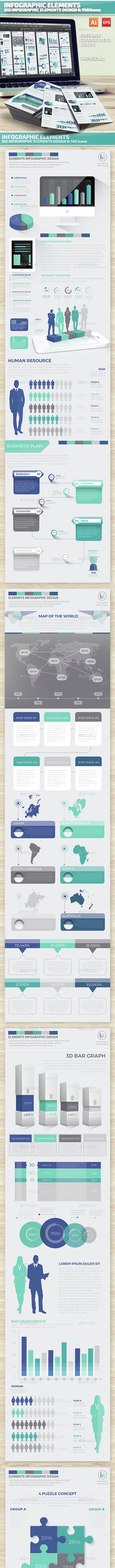 Big Set Of Modern Infographics Scheme 2 - Infographics