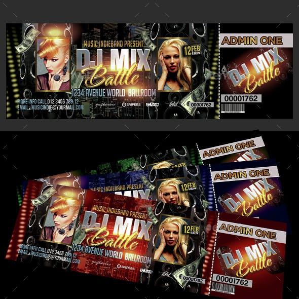 Dj Mix Battle Ticket