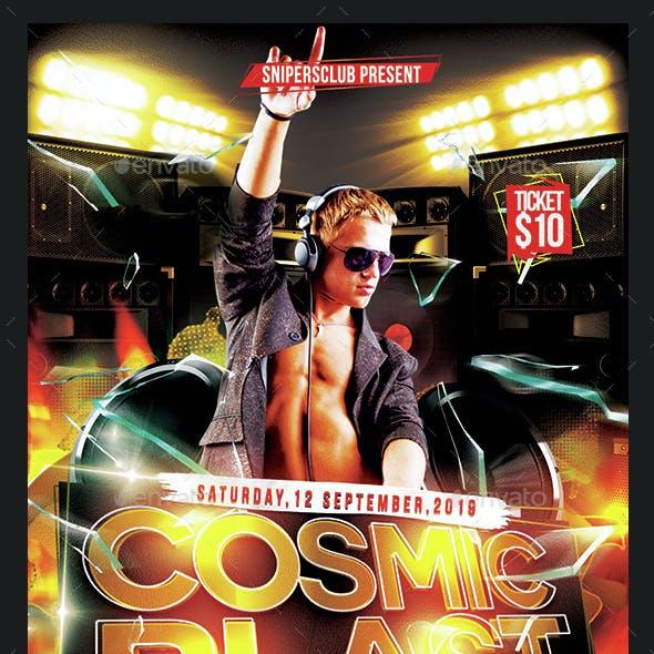 Cosmic Blast Party Flyer