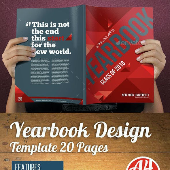 Yearbook Template Design Vol 2
