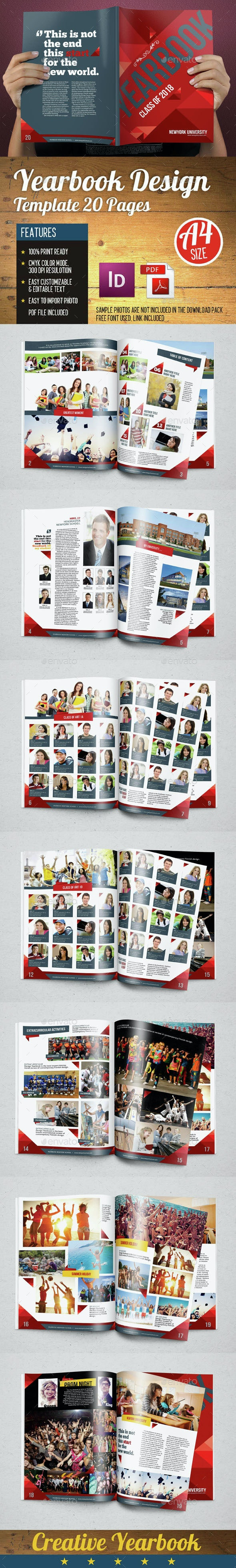 Yearbook Template Design Vol 2  - Photo Albums Print Templates