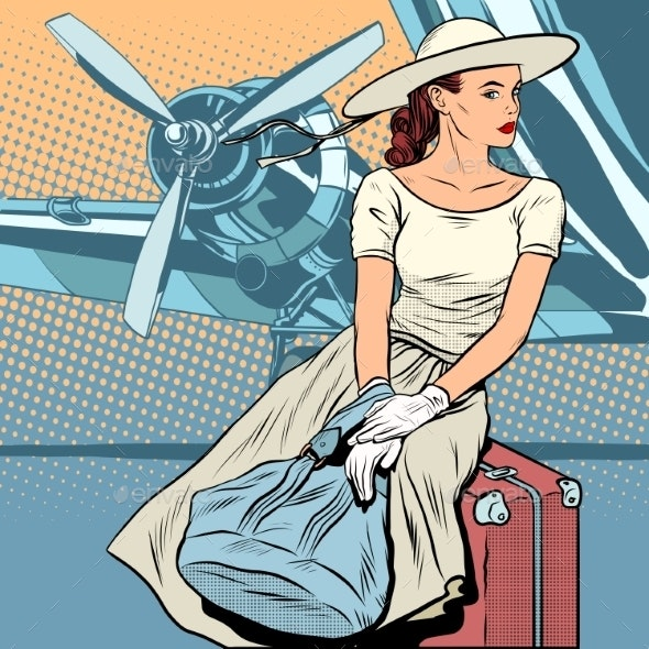 Lady Traveler at the Airport - Travel Conceptual