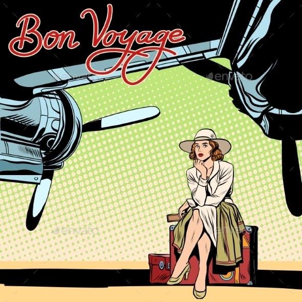Bon Voyage Girl on the Runway