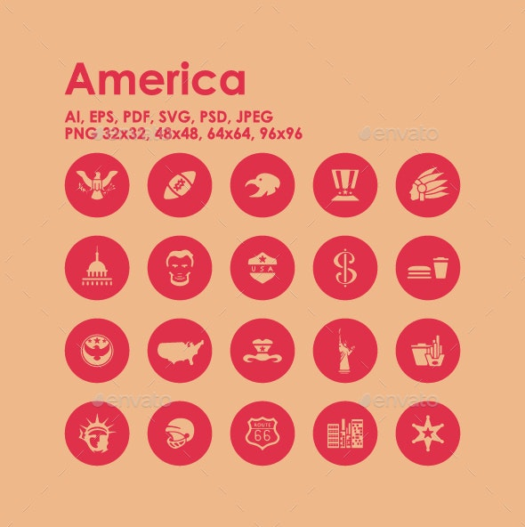 20 United States icons - Miscellaneous Icons