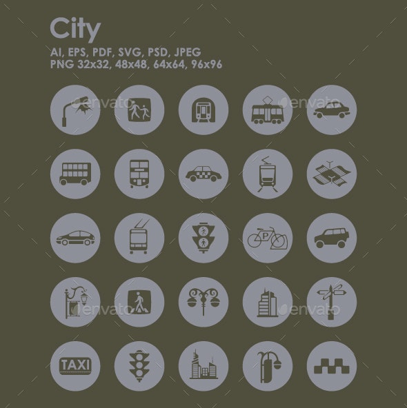 25 City icons - Objects Icons