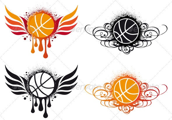 Basketball With Wings - Sports/Activity Conceptual