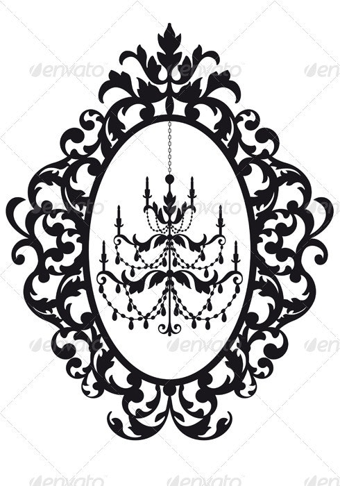 Picture Frame With Chandelier - Man-made Objects Objects