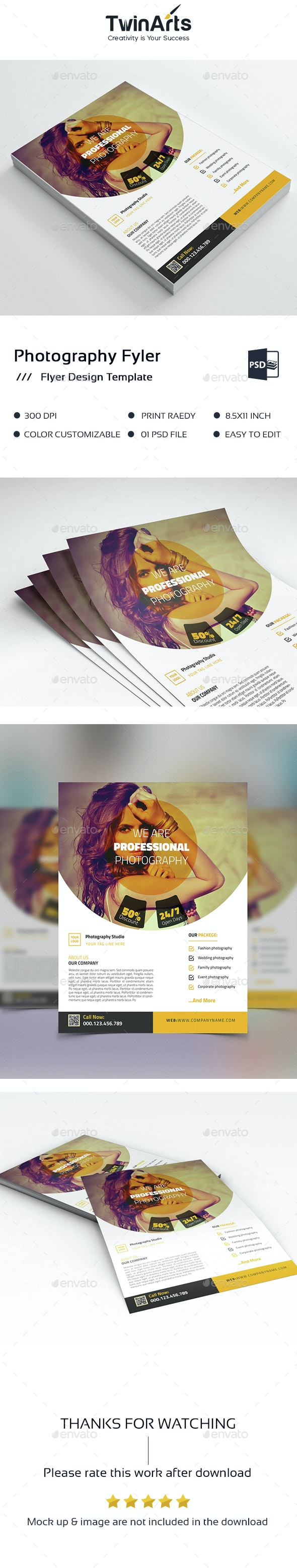 Photography business flyer design - Flyers Print Templates