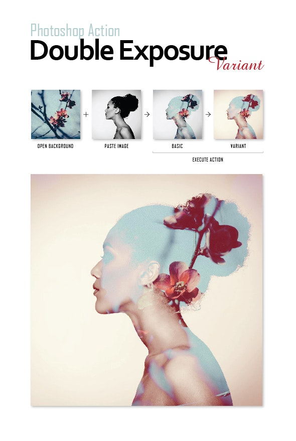 Photoshop Actions Pack - Double Exposure - Photo Effects Actions