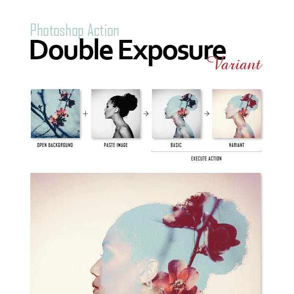 Photoshop Actions Pack - Double Exposure