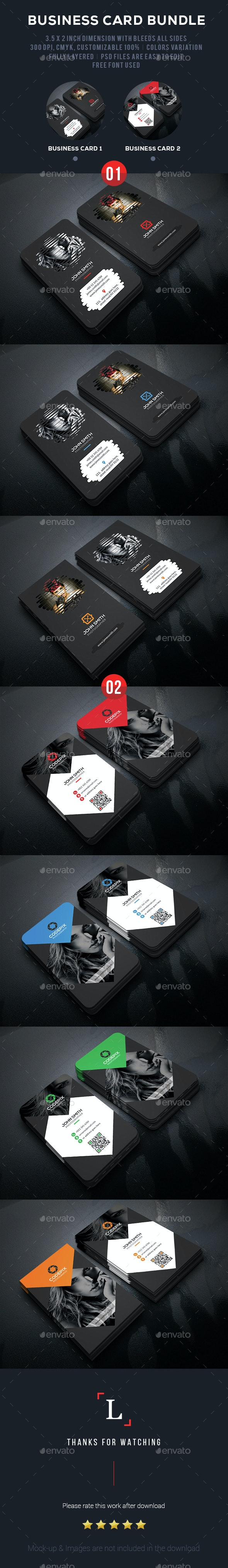 Photography Business Card Bundle - Business Cards Print Templates