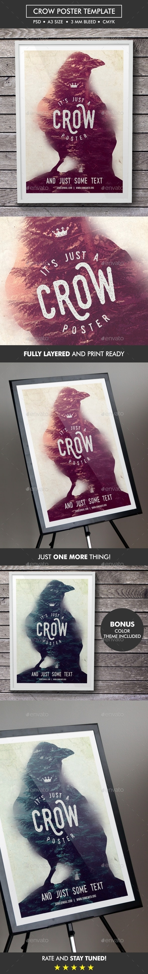 Crow Poster Template - Miscellaneous Events