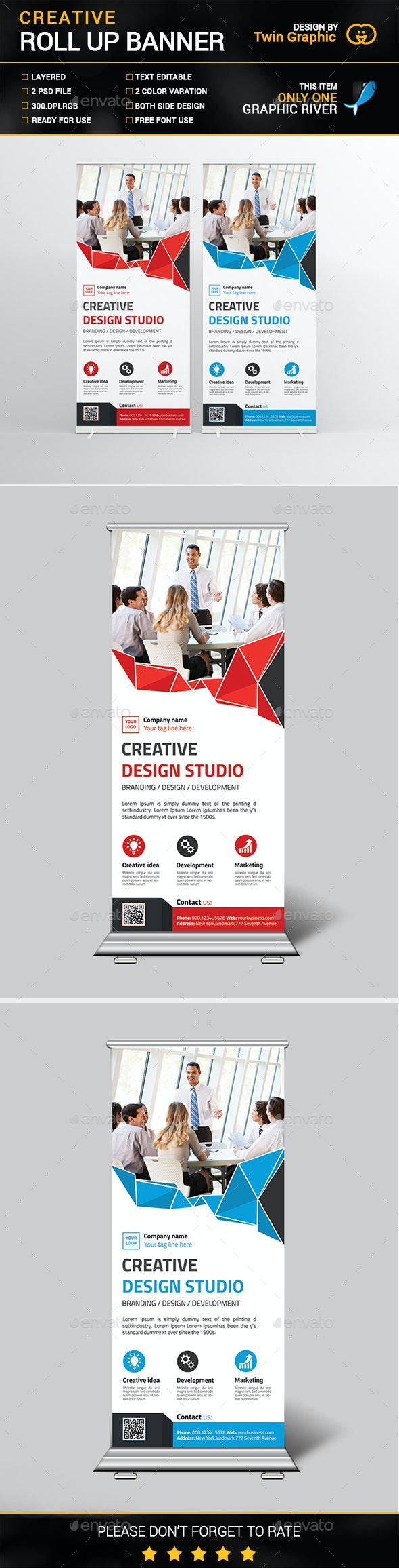 Creative Roll up Banner Design - Signage Print Templates