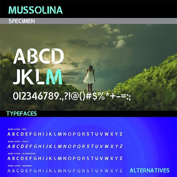 Mussolina Font