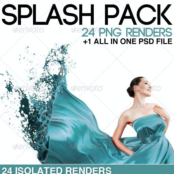 24 Isolated Splashes