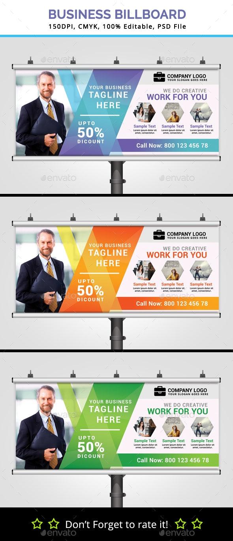 Business Billboard V7 - Signage Print Templates