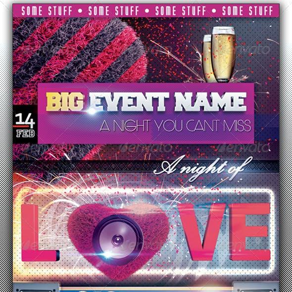 "Valentine's ""Night of love"" Flyer"