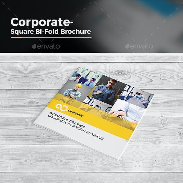 Square Bi Fold Brochure