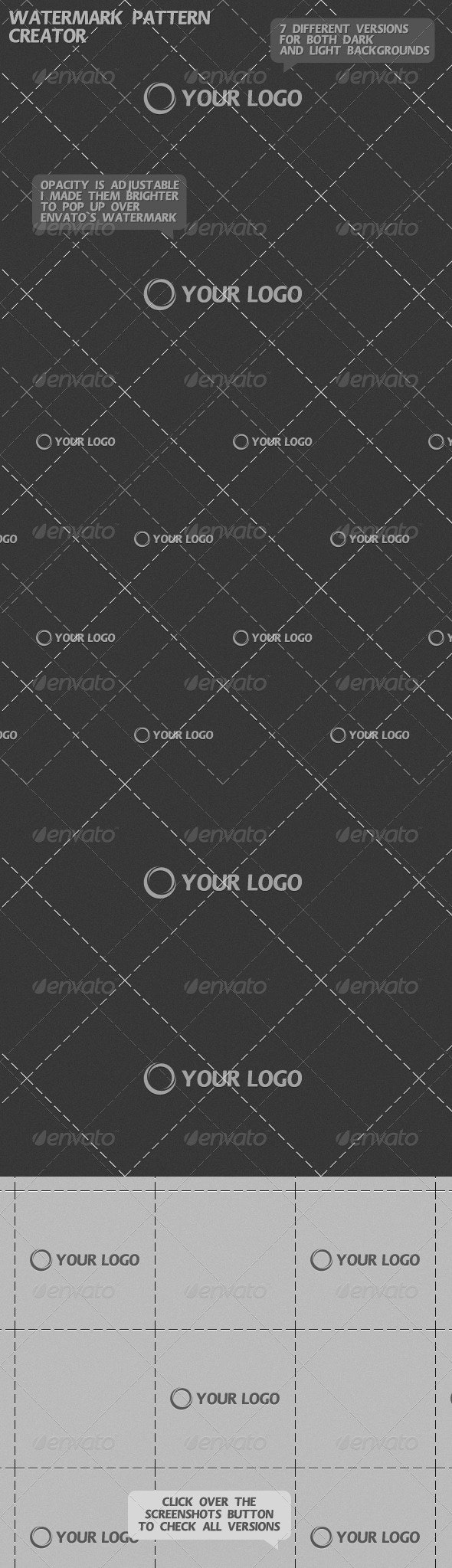 Watermark Pattern Creator - Patterns Backgrounds