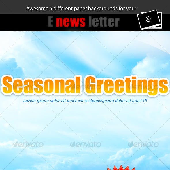 E-news Letter Paper Background