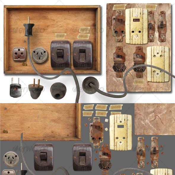 Antique electricity panel kit
