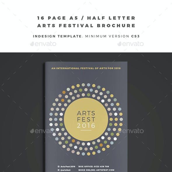 A5 / Half Letter Arts Festival Brochure