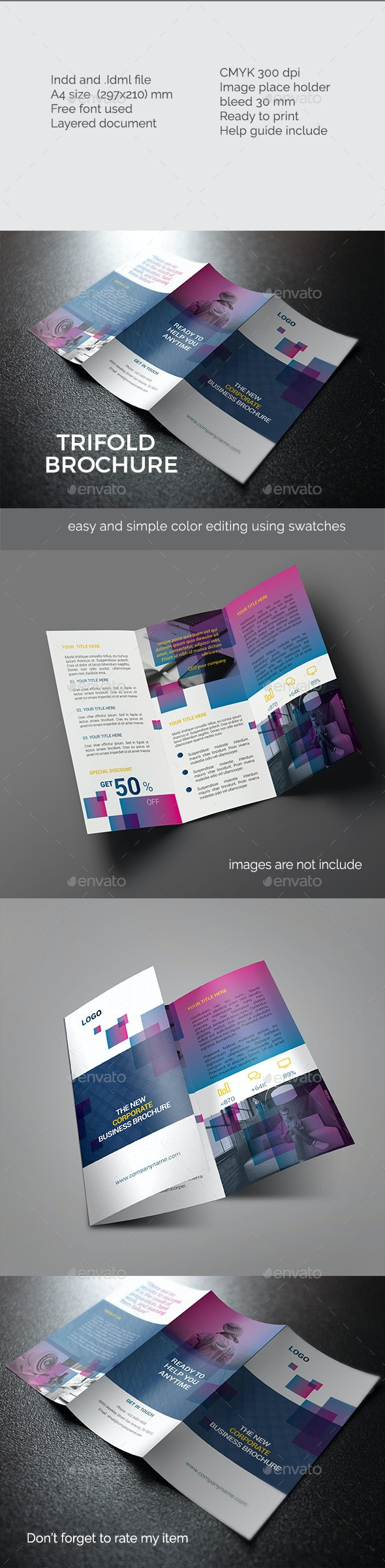 Elegant Trifold Brochure  - Corporate Brochures