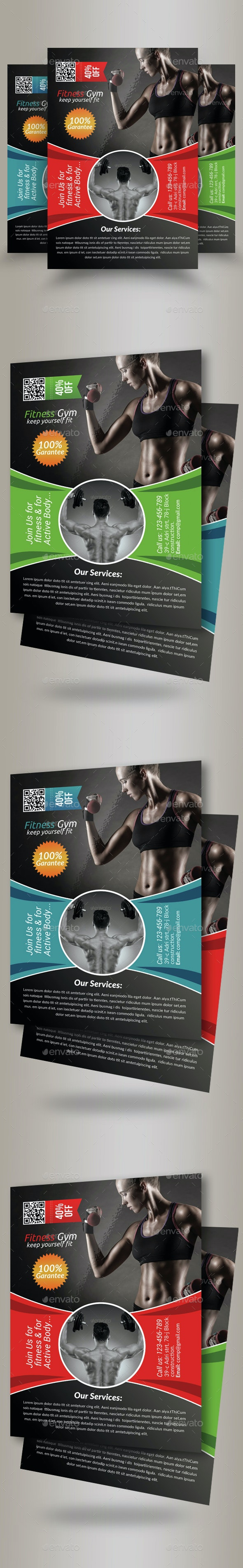 Body Fitness Gym Flyer Template - Sports Events